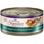 SIGNATURE SELECTS FLAKED TUNA WITH SHRIMP IN BROTH FOR CATS 5.3oz WN-CCSSFTSHP
