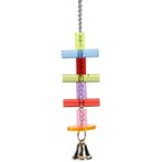 ACRYLIC HANGING TOY WITH BARS & BELL BT010413