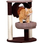 CAT TREE 3 TIERS WITH TUNNEL & REST (BROWN) YS97398