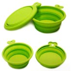 COLLAPSIBLE TRAVEL DOUBLE BOWL (GREEN) (300ml+200ml) UP0PPSD0121VE