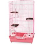CAT CAGE WITH 3 BOARDS (PINK) (SET) BW846