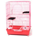 CAT CAGE WITH 2 BOARDS (PINK) (SET) BW847
