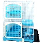 CAT CAGE WITH 2 BOARDS & DOORS (BLUE) (SET) BW609M2YBU