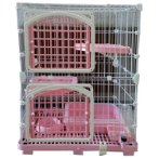 CAT CAGE WITH 2 BOARDS & DOORS (PINK) (SET) BW609M2YPK