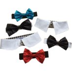 SINGLE COLLAR WITH ASSORTED BOW TIE SIZE 40 SCDS040