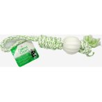 DENTAL ROPE TUG WITH NYLON BALL(GREEN) IDS0WB15424G