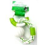 DOUBLE RINGS - NYLON & ROPE WITH NYLON BALL (GREEN) IDS0WB15429G