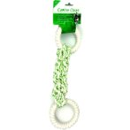 DENTAL BRAIDED ROPE TUG WITH 2 NYLON RING (GREEN) IDS0WB15431G