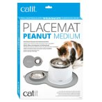 CATIT 2.0 PEANUT SHAPE PLACEMAT GREY MEDIUM 44013