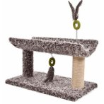 CAT TREE 2 TIER WITH REST & TOY (GREY) YS98771