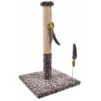 CAT TREE WITH SISAL POST & TOY (GREY) YS98772