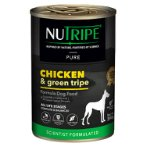 PURE CHICKEN & GREEN TRIPE FOR DOGS 390g NUT3758
