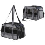 PET CARRIER (42x26x28cm) (GREY) SUN0DCC1118