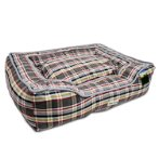 PET BED - CHECKED (GREY) YF98583GY