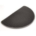 SEMICIRCLE LITTER MAT - 2 LAYER (GREY) DAP0111002GY