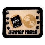 MINI ABSORBENT FOOD MAT - PAWS (CREAM) PRE0MMCR