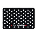MINI ABSORBENT FOOD MAT - DOTTY (BLACK) PRE0MMDBLK
