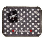 MINI ABSORBENT FOOD MAT - DOTTY (GREY) PRE0MMDGR