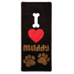 STOP MUDDY PAWS - I LOVE MUDDY PAWS (BROWN) PRE0SMPILMP