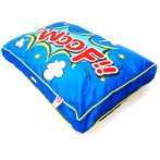 PET BED - WOOF (BLUE) (LARGE) YF100451BUL