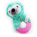 DOGICORN SLOTH TPR RING PLUSH TOY (GREEN) IDS0WB21095