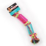 DOGICORN 3 KNOTS ROPE WITH 2 TPRS (RAINBOW) IDS0WB19380