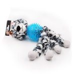 LEOPARD PLUSH WITH SPIKE BALL KNOTTED LEGS IDS0WB18163