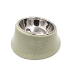 PET BOWL WITH STEEL BOWL (GREEN) (170ml) JNP12144GN