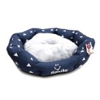 PET BED OVAL - TRIANGLE (BLUE) (MEDIUM) YF103197BUM
