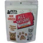 CAT AIR DRIED CHICKEN & SALMON CUBE 70g PKCAT-FA37