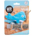 NORMAN THE NARWHAL CATNIP TOY WITH CATNIP TUBE PBL0MOP16