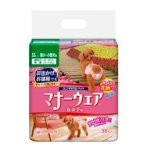 MANNER WEAR FEMALE DOG DIAPER - EXTRA-SMALL 38pcs UCPD3000-Y18-STK