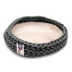 KNITTED ROUND BED (GREY) YF103030GY