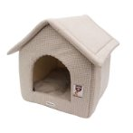 PET HOUSE - HOUNDSTOOTH (BROWN) (MEDIUM) YF103321BNM