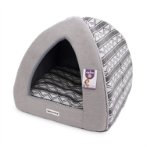 PET IGLOO - TRIBAL ZIGZAG (GREY) (LARGE) YF103206GYL