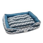 LOUNGER BED-TRIBAL ZIGZAG (BLUE) (SMALL) YF103208BUS