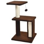 CAT TREE 3 TIERS WITH TOY (BROWN) YS103583