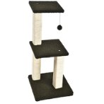 CAT TREE 3T WITH TOY (BLACK) YS103584