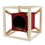 SUSPENDED CAT BED (RED) (MEDIUM) SUN0KFW1057M