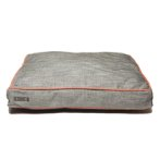 RECTANGLE BED (LIGHT GREY / ORANGE PIPING) (EXTRA LARGE) DGS0KONGHRB3452
