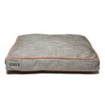 RECTANGLE BED (LIGHT GREY / ORANGE PIPING) (LARGE) DGS0KONGHRB2652