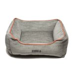 LOUNGER BED (LIGHT GREY / ORANGE PIPING) (MEDIUM) DGS0KONGHLB2652