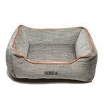 LOUNGER BED (LIGHT GREY / ORANGE PIPING) (LARGE) DGS0KONGHLB3252