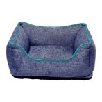 CHENILLE LOUNGER BED (BLUE / GREEN TRIM) (EXTRA LARGE) DGS0LBH350165