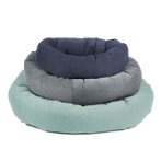 CHENILLE DONUT BED (GREY) (SMALL) (68cm) DGS0DO272101