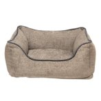 CHENILLE LOUNGER BED (GREY / BLUE TRIM) (MEDIUM) DGS0LBH262101