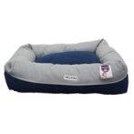 SOFT PLUSH PET BED (BLUE) (MEDIUM) (70x60x14cm) YF100745BUM