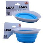SILICON COLLAPSIBLE LEAF BOWL (GREY / LIGHT BLUE) (250ml) UP0DL0101TA