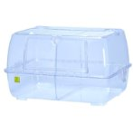 WILD ROOMY HAMSTER CAGE CLEAR WITH DIVIDER SANKOC14