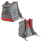 BACKPACK CARRIER WITH VENT HOLES (GREY) (31x 22x 42cm) SUN0DCC1535GY
